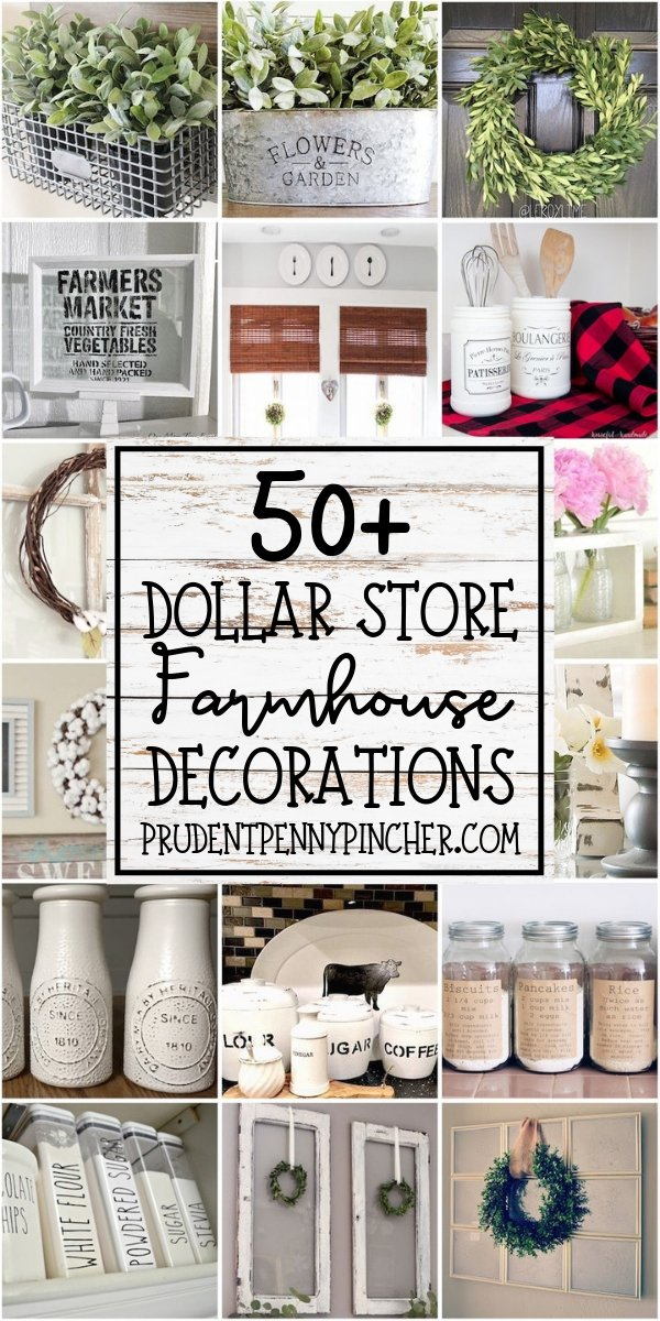50 Dollar Store DIY Farmhouse Decor Ideas - Prudent Penny ...